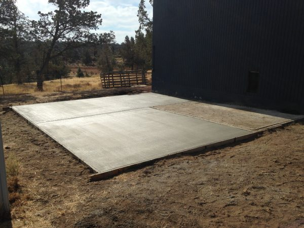 Concrete slab in Central Oregon
