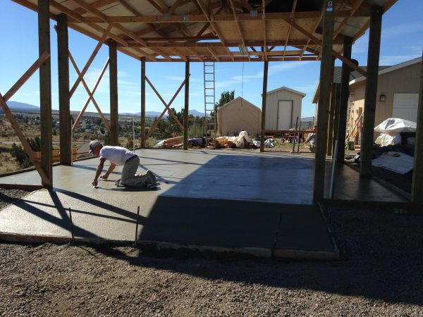 Concrete foundation in Central Oregon